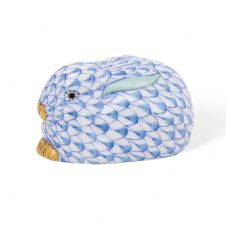 Herend Porcelain Fishnet Figurine of a Rabbit Lying, Miniature